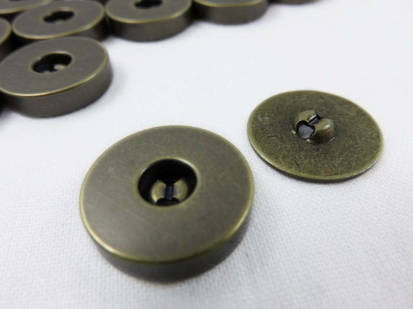 Magnetlås 18 mm antik (2-dels)