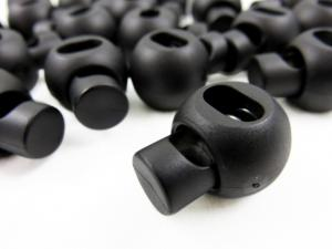 Cord lock ball 18 mm black