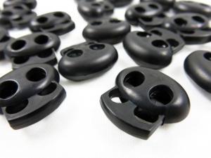 Snörlås dubbel svart