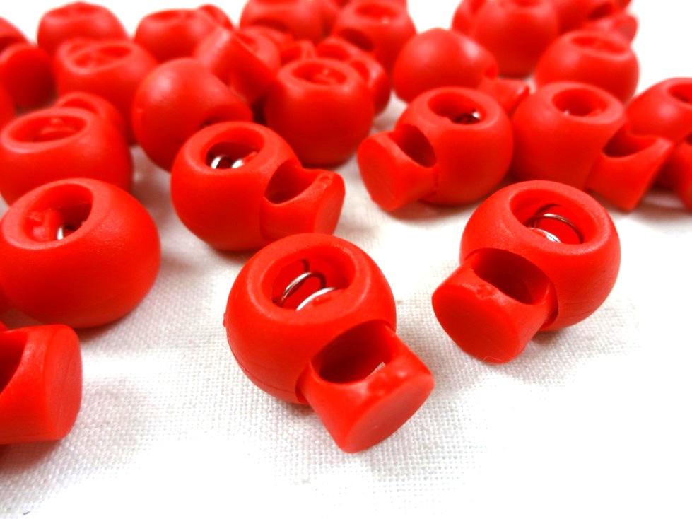 S208 Snörlås Boll 15 mm röd