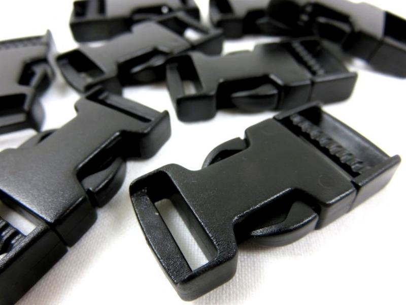 Side release buckle 15 mm black