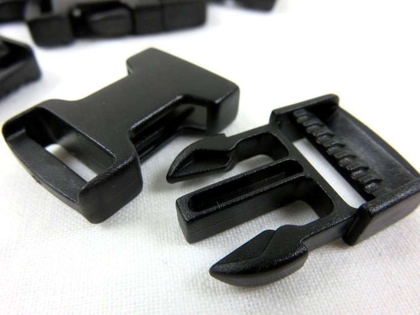 Klickspänne 15 mm svart