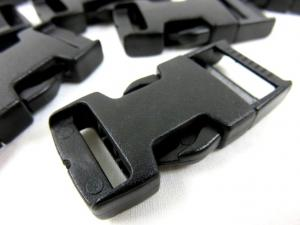 Side release buckle 20 mm black