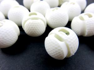 Snörlås golfboll 18 mm vit