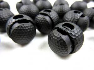 Snörlås golfboll 18 mm svart