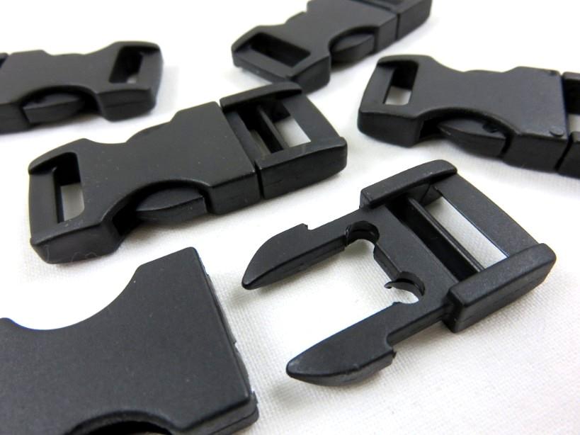 Side release buckle  15 mm black