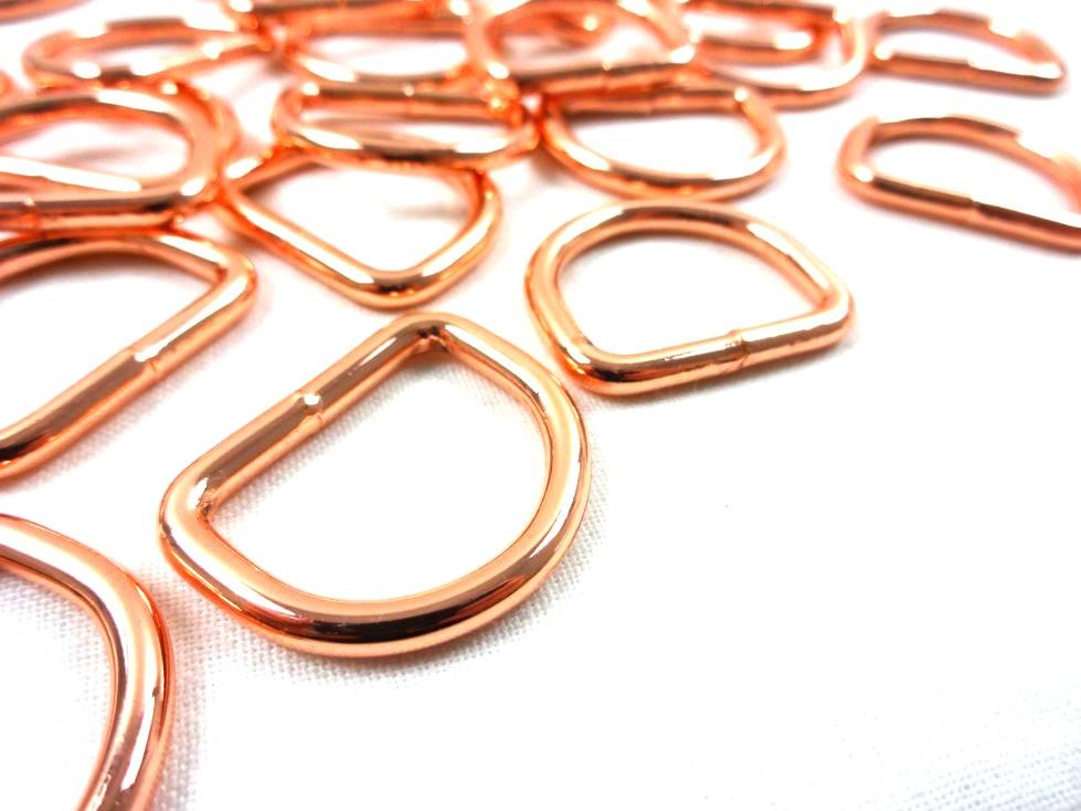 S251 D-ring 20 mm roséguld