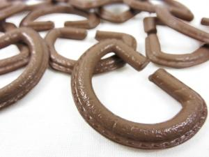 S363 D-ring Plastic 25 mm brown