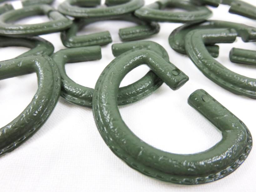 S363 D-ring plast grön 25 mm