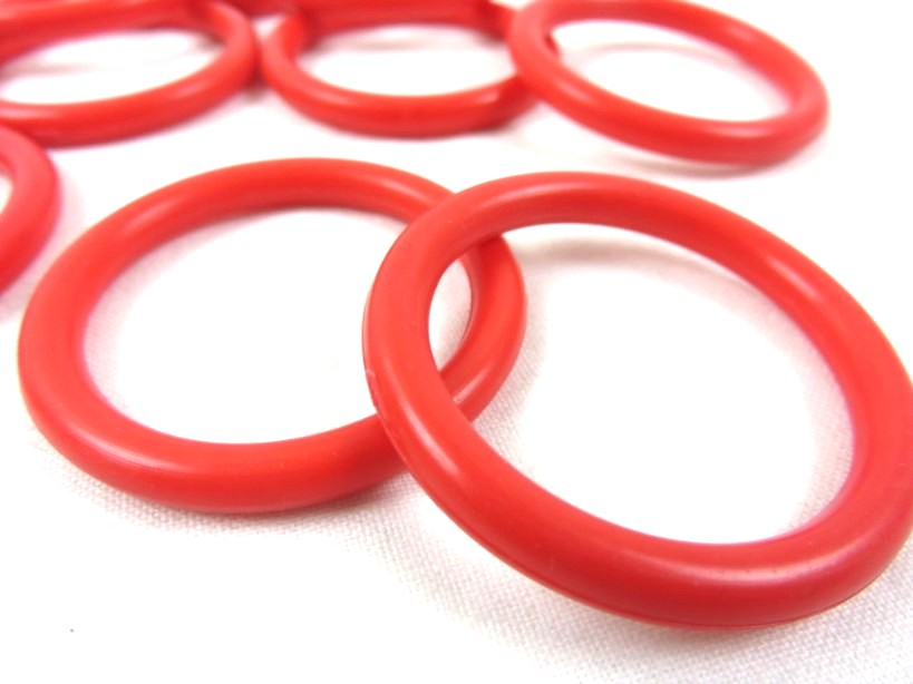 S366 Ring plast 34 mm röd