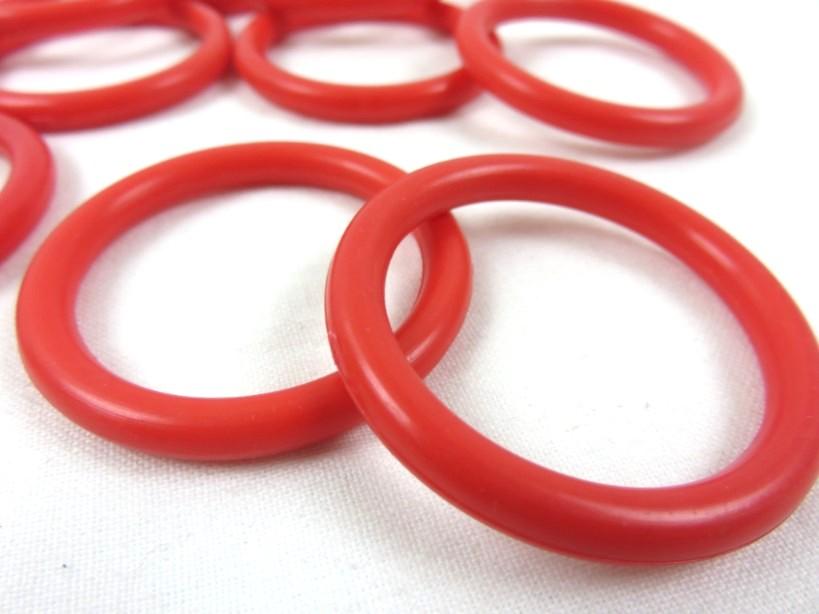 S366 Ring plast 34 mm röd