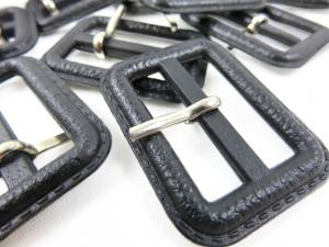 Plastic bar buckle 30 mm black