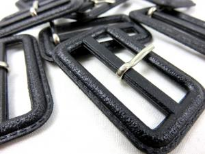 S375 Plastic Bar Buckle 40 mm black