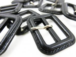 S376 Plastic Bar Buckle 25 mm black