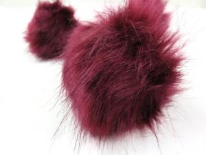 S416 Pom Pom 10 cm wine red