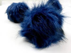 S416 Pom Pom 15 cm mörkblå