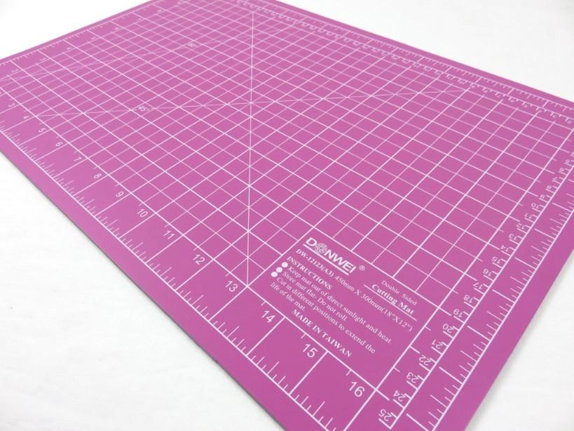 Skärmatta 45 x 30 cm rosa/lila
