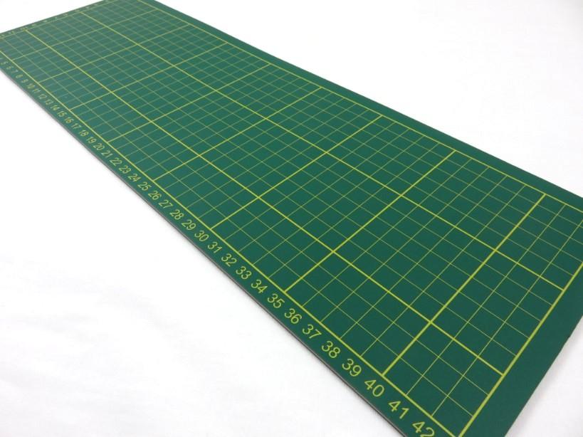 Skärmatta 45 x 15 cm grön