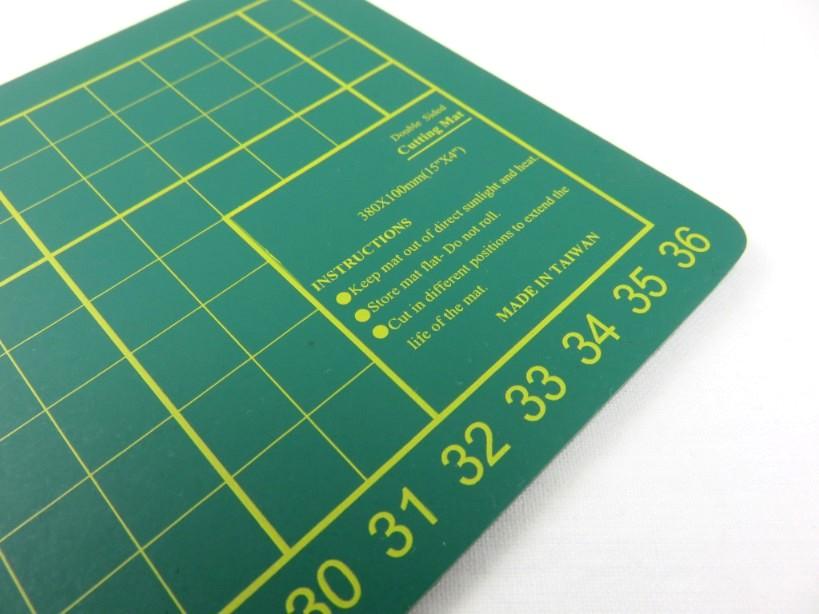 Skärmatta 38 x 10 cm grön