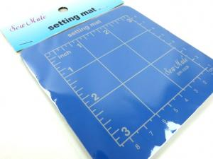 Cutting mat 10 x 10 cm blue