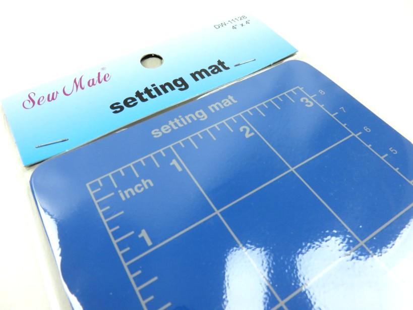 Cutting mat 10 x 10 cm blue