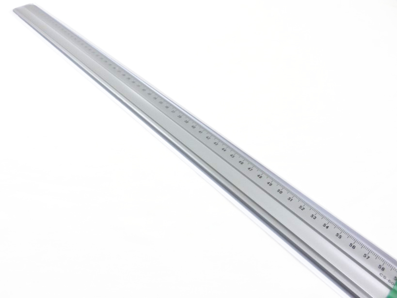 Linjal aluminium 60 cm