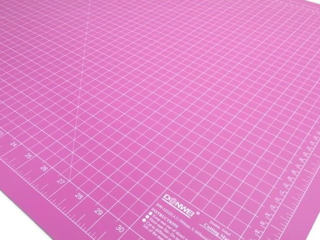 Skärmatta rosa/lila 90 x 60 cm