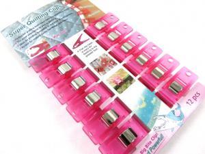 Clips rosa (12 st)