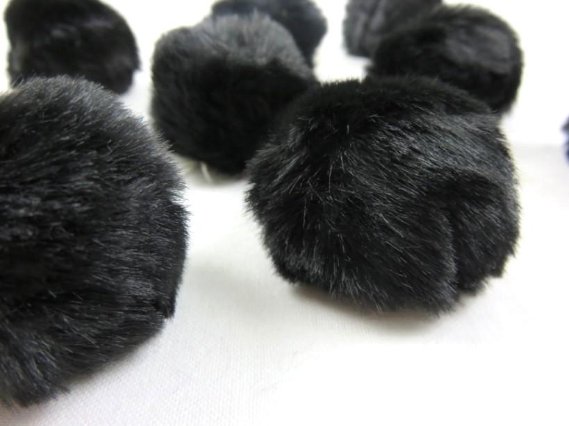 S463 Pom Pom 4 cm svart