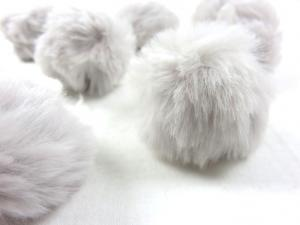S463 Pom Pom 4 cm light grey