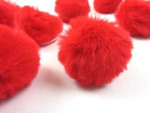 S463 Pom Pom 4 cm röd