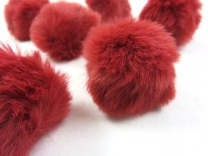 S463 Pom Pom 4 cm vinröd
