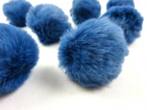 S463 Pom Pom 4 cm medium blue
