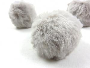 S463 Pom Pom 6 cm light grey