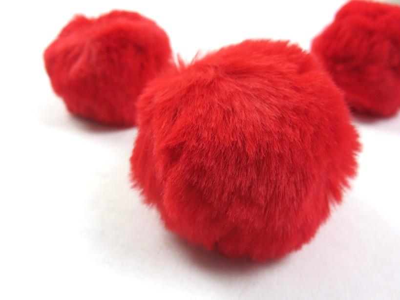 S463 Pom Pom 6 cm röd