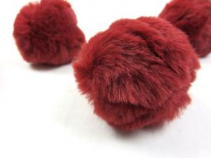S463 Pom Pom 6 cm wine red