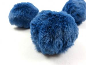 S463 Pom Pom 6 cm medium blue