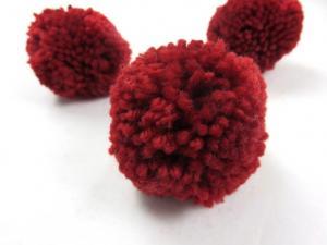S464 Pom Pom 6 cm wine red