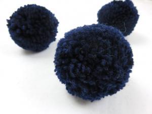 S464 Pom Pom 6 cm dark blue