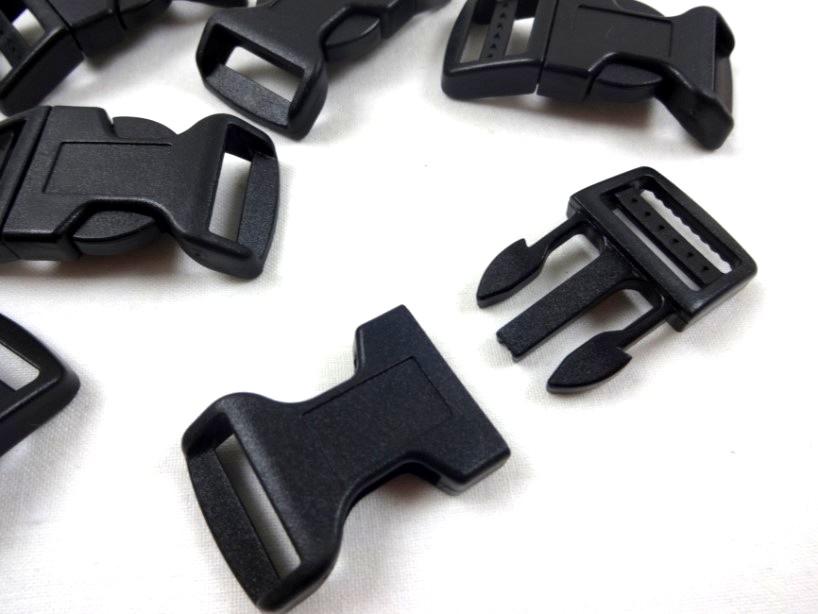 Side release buckle 20 mm black