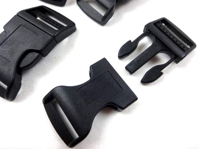Klickspänne 25 mm svart