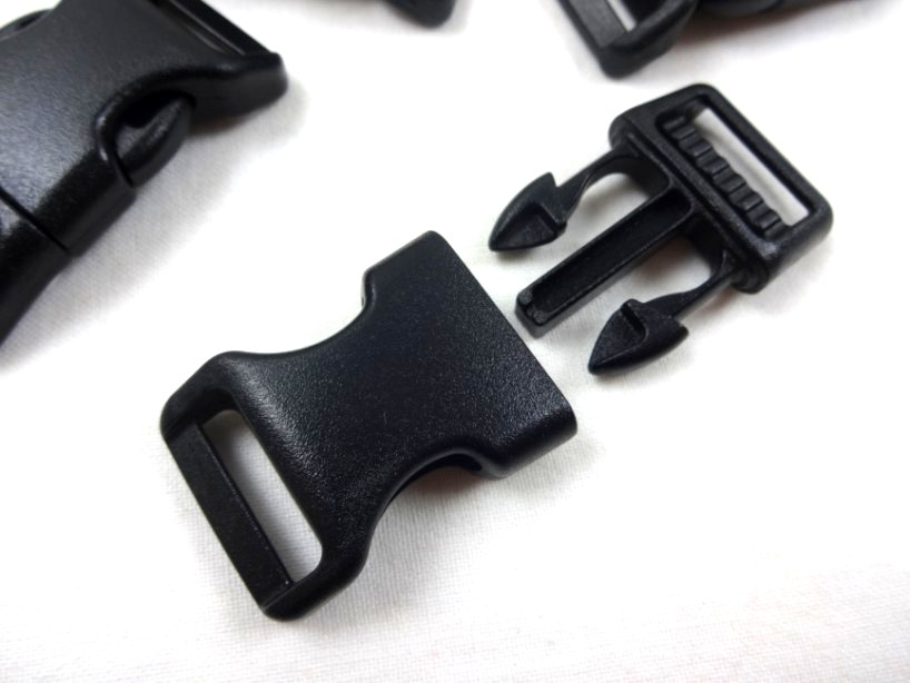 Side release buckle anti-freeze 20 mm black