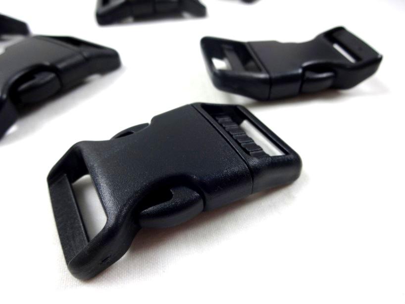 Klickspänne frosttåligt 25 mm svart