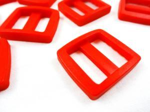Plastic tri glide 20 mm red