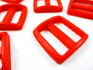 Plastic tri glide 25 mm red
