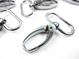 Snap hook 25 mm silver