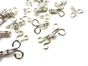 S524 Hook and Bar Loops Silver Size 1 (14 pcs)