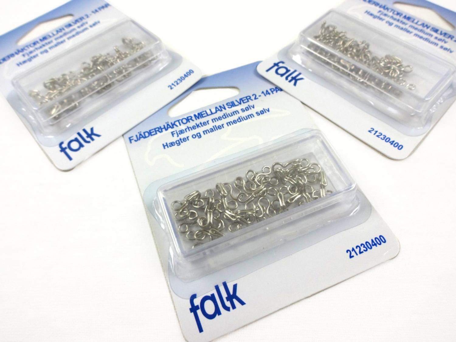 Hook and bar loops silver size 2 (14 pcs)