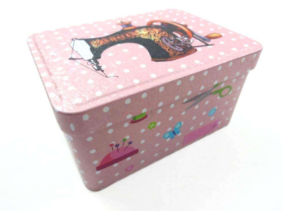 S566 Plåtask för sybehör rosa