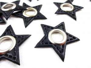 S591 Lapp med öljett Stjärna svart